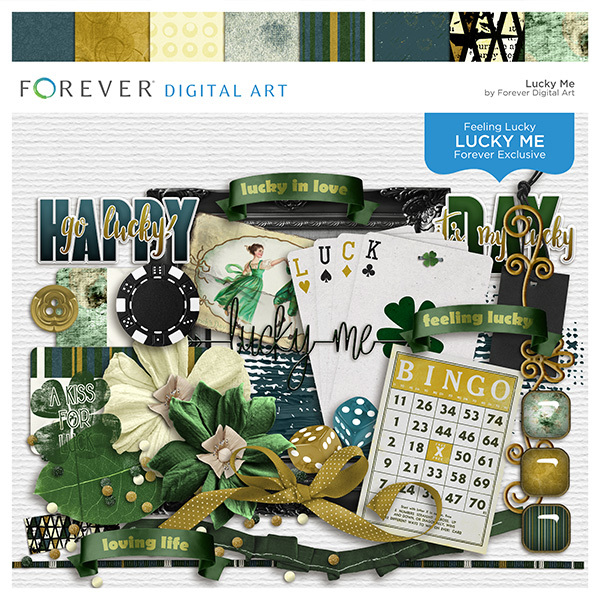 Lucky Me Digital Art - Digital Scrapbooking Kits