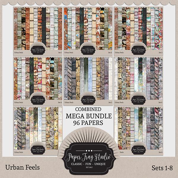 Urban Feels - Sets 1-8 Digital Art - Digital Scrapbooking Kits