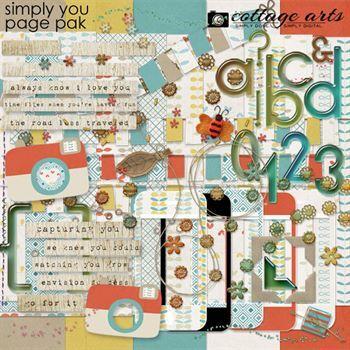 Simply You Page Pak Digital Art - Digital Scrapbooking Kits