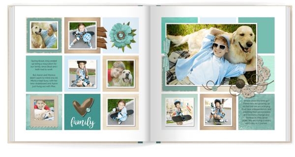 Color Blocked Yearbook Photo Book