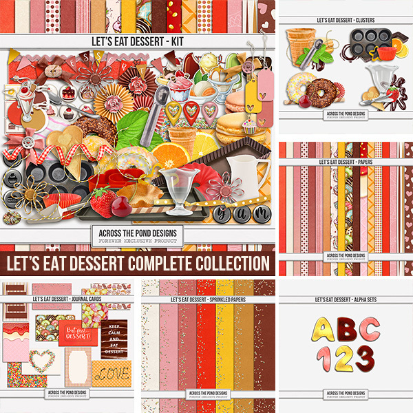 Let's Eat Dessert - Bundle Digital Art - Digital Scrapbooking Kits