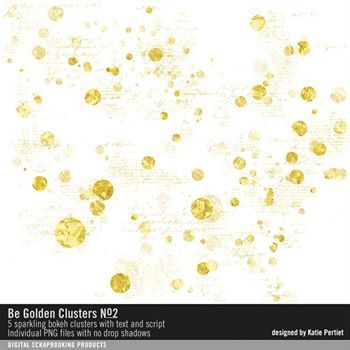Be Golden Clusters No. 02 Digital Art - Digital Scrapbooking Kits