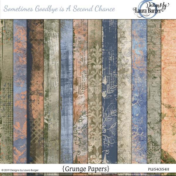 Sometimes Change Is A Second Chance Grunge Papers Digital Art - Digital Scrapbooking Kits