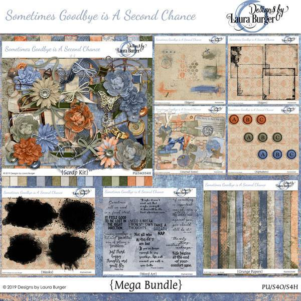 Sometimes Change Is A Second Chance Mega Bundle Digital Art - Digital Scrapbooking Kits