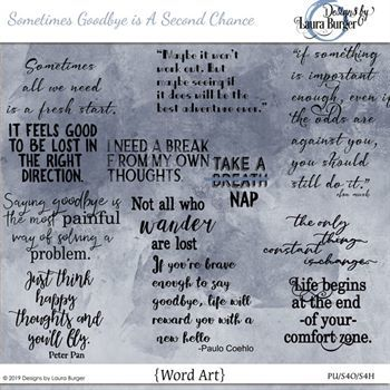 Sometimes Change Is A Second Chance Word Art