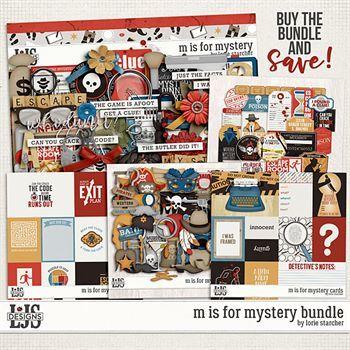 M Is For Mystery Bundle Digital Art - Digital Scrapbooking Kits