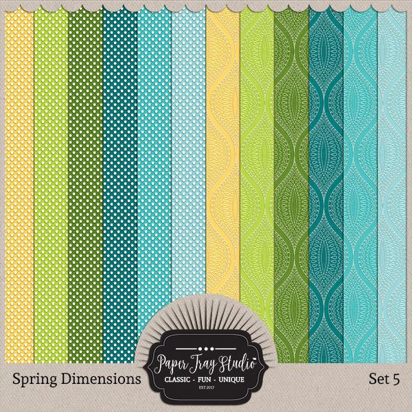 Spring Dimensions - Set 5 Digital Art - Digital Scrapbooking Kits