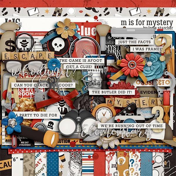 M Is For Mystery Digital Art - Digital Scrapbooking Kits