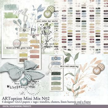 Artoption Mini Mix No. 02 Digital Art - Digital Scrapbooking Kits