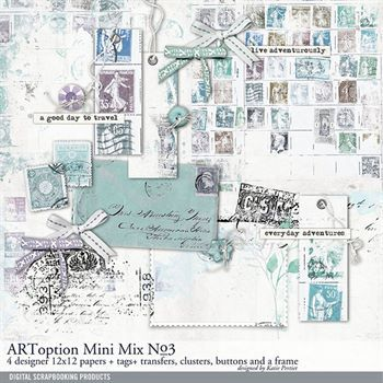 Artoption Mini Mix No. 03 Digital Art - Digital Scrapbooking Kits