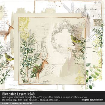 Blendable Layers No. 49 Digital Art - Digital Scrapbooking Kits