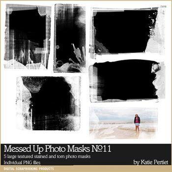 Messed Up Photo Blocks Brushes And Stamps No. 11 Digital Art - Digital Scrapbooking Kits