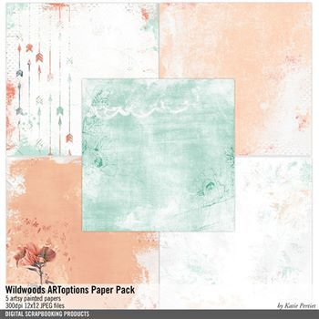 Wildwoods Artoptions Paper Pack Digital Art - Digital Scrapbooking Kits