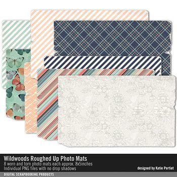 Wildwoods Roughed Up Photo Mats Digital Art - Digital Scrapbooking Kits