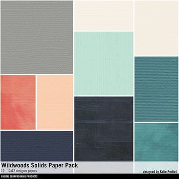 Wildwoods Solids Paper Pack Digital Art - Digital Scrapbooking Kits