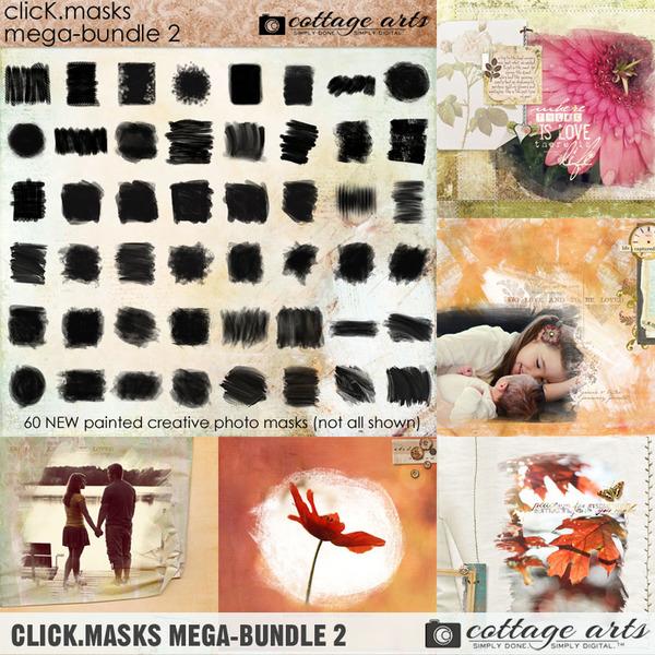 Click.Masks Mega-Bundle 2 Digital Art - Digital Scrapbooking Kits