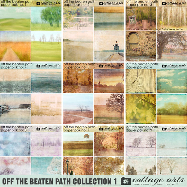 Off the Beaten Path Collection 1 Digital Art - Digital Scrapbooking Kits