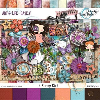 Art And Life - Case 2 Digital Art - Digital Scrapbooking Kits