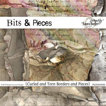 Bits And Pieces Curls Digital Art - Digital Scrapbooking Kits