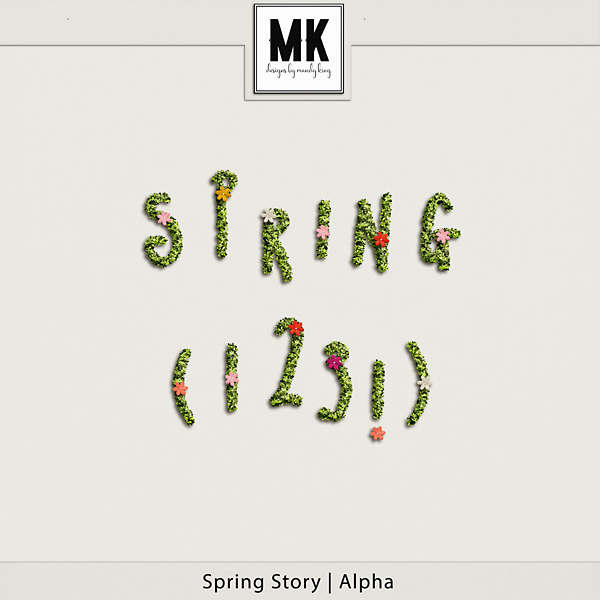 Spring Story - Alpha Digital Art - Digital Scrapbooking Kits