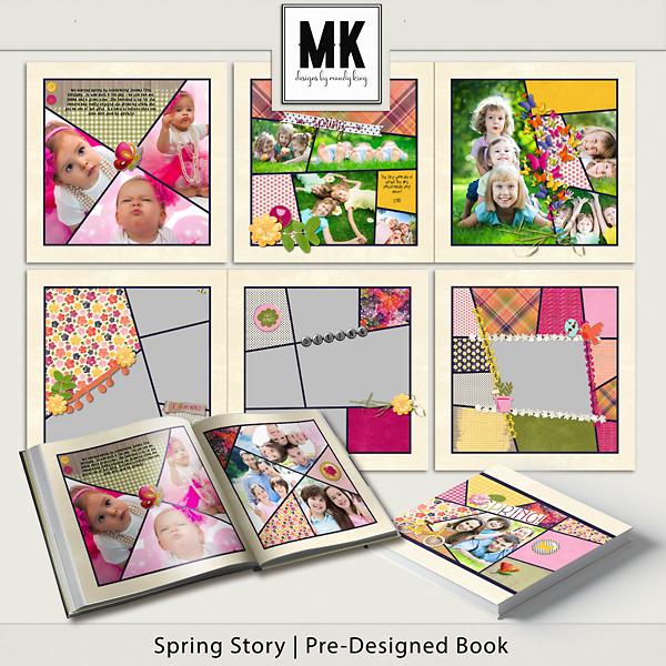 Spring Story Pre-designed Book