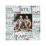 Gone Fishing Subway Art Canvas