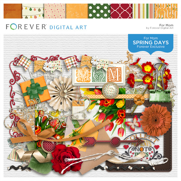 Spring Days - For Mom Digital Art - Digital Scrapbooking Kits