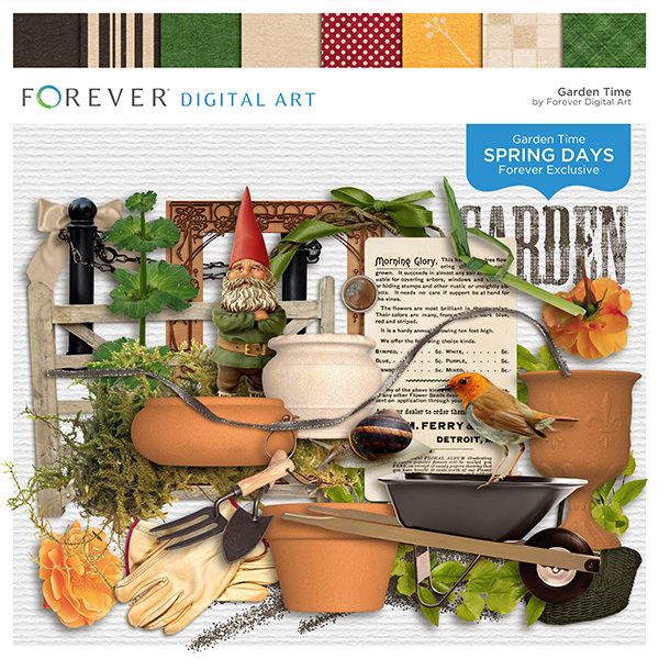 Spring Days - Garden Time Digital Art - Digital Scrapbooking Kits