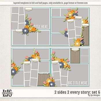 2 Sides 2 Every Story - Set 6 Digital Art - Digital Scrapbooking Kits