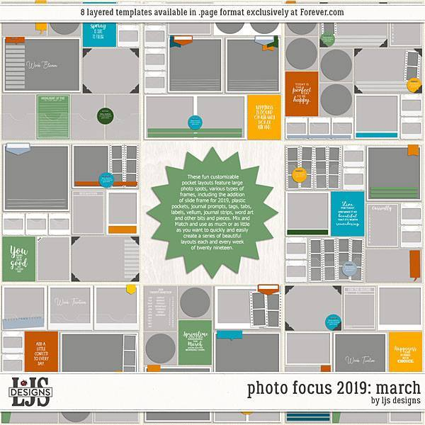Photo Focus 2019 - March Digital Art - Digital Scrapbooking Kits