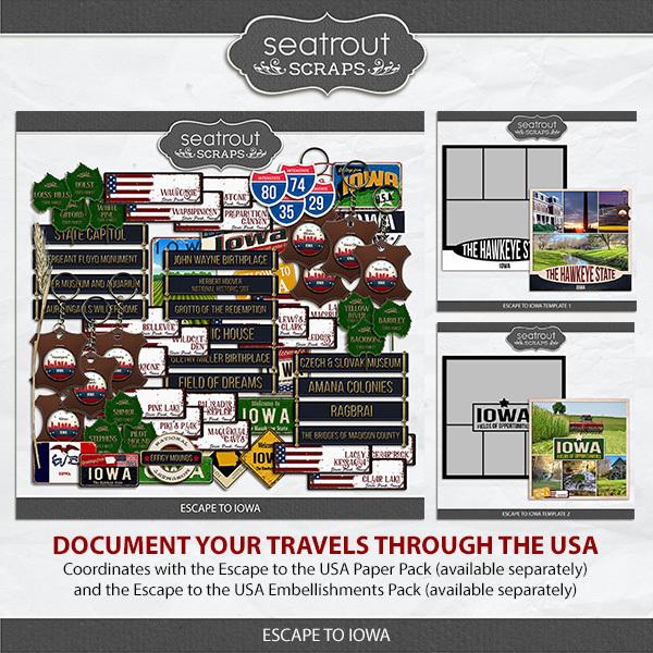 Escape To Iowa Digital Art - Digital Scrapbooking Kits