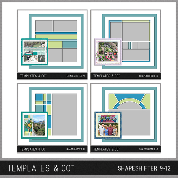 Shapeshifter 9-12 Digital Art - Digital Scrapbooking Kits