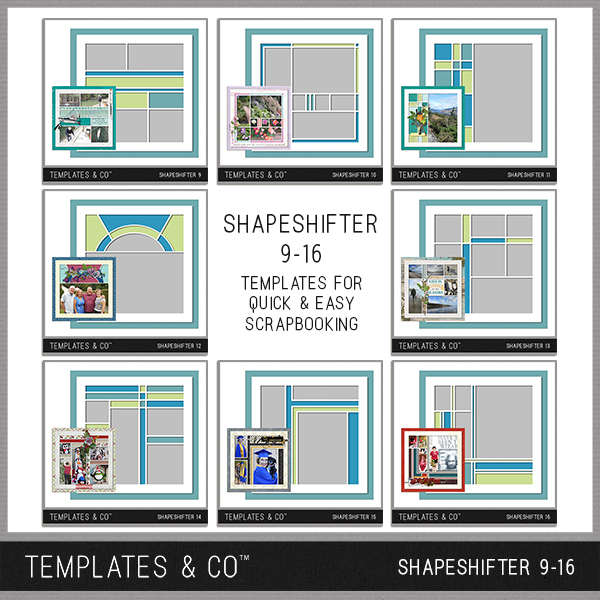 Shapeshifter 9-16 Digital Art - Digital Scrapbooking Kits