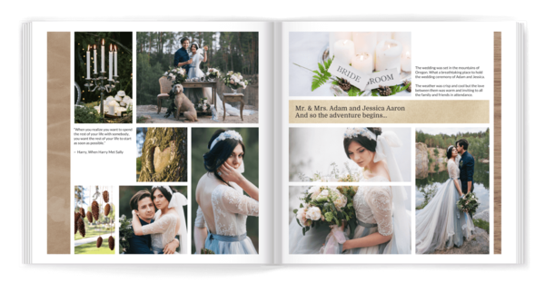 Modern and Natural Yearbook Photo Book