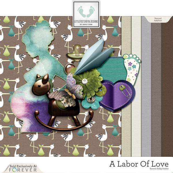 Labor Of Love Forever Friday Freebie Digital Art - Digital Scrapbooking Kits