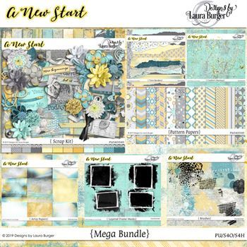 A New Start Mega Bundle Digital Art - Digital Scrapbooking Kits