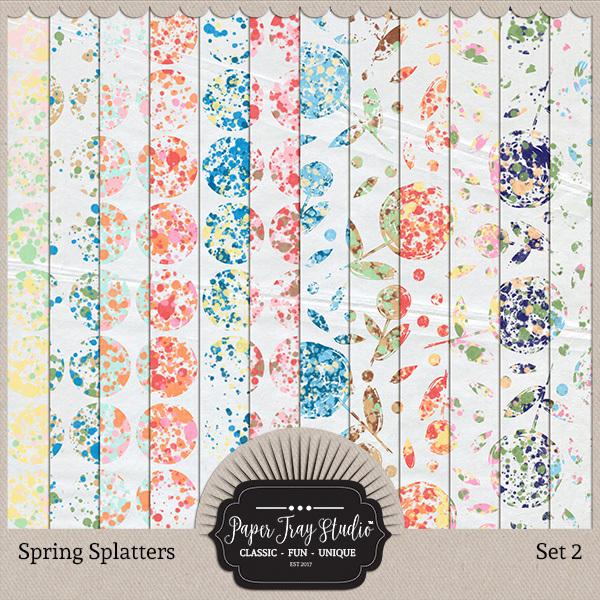 Spring Splatters - Set 2 Digital Art - Digital Scrapbooking Kits