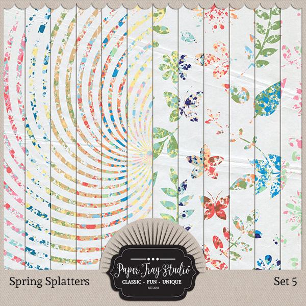 Spring Splatters - Set 5 Digital Art - Digital Scrapbooking Kits
