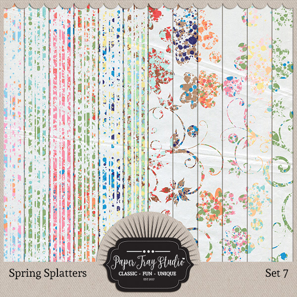 Spring Splatters - Set 7 Digital Art - Digital Scrapbooking Kits