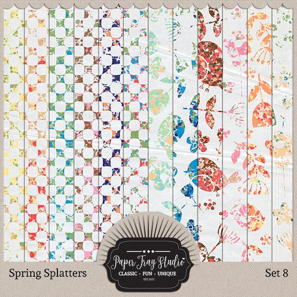 Spring Splatters - Set 8 Digital Art - Digital Scrapbooking Kits
