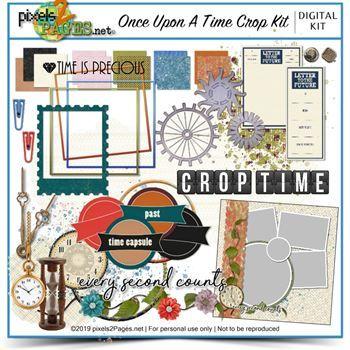 Once Upon A Time Crop Kit Digital Art - Digital Scrapbooking Kits
