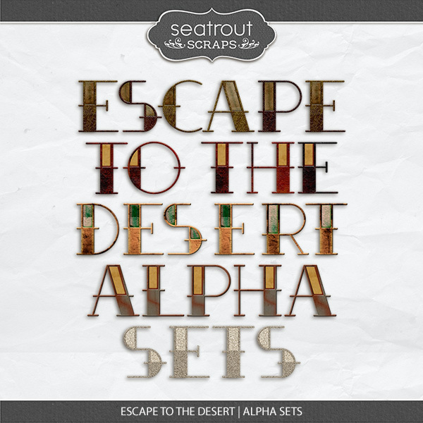 Escape To The Desert Alpha Sets Digital Art - Digital Scrapbooking Kits