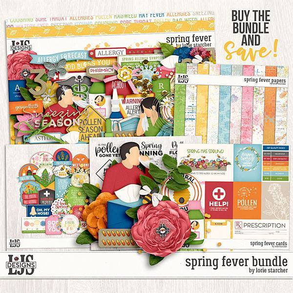 Spring Fever Bundle Digital Art - Digital Scrapbooking Kits