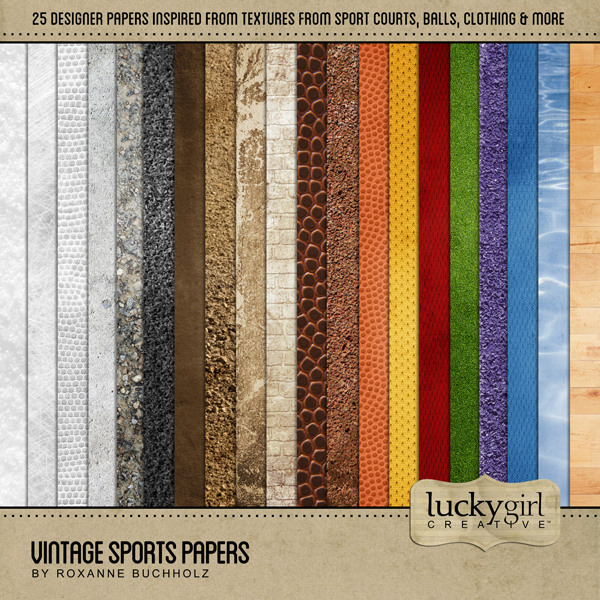 Vintage Sports Papers Digital Art - Digital Scrapbooking Kits