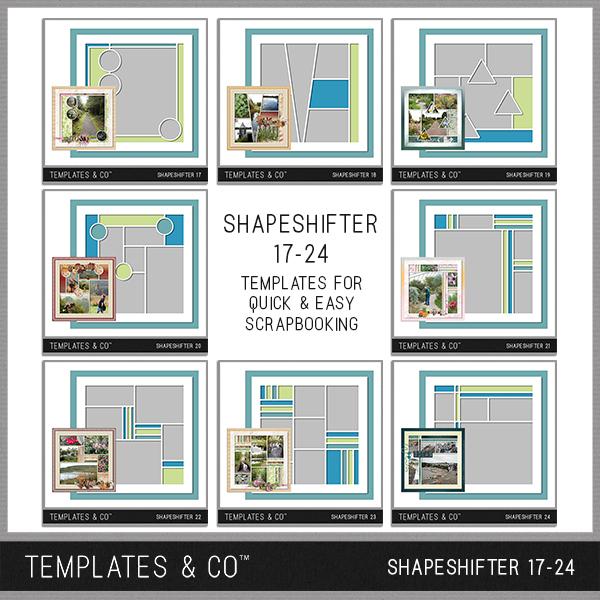 Shapeshifter 17-24 Digital Art - Digital Scrapbooking Kits