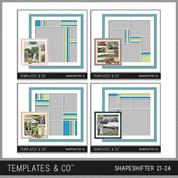 Shapeshifter 21-24 Digital Art - Digital Scrapbooking Kits