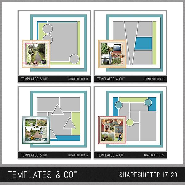 Shapeshifter 17-20 Digital Art - Digital Scrapbooking Kits