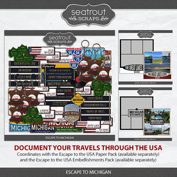 Escape to Michigan Digital Art - Digital Scrapbooking Kits