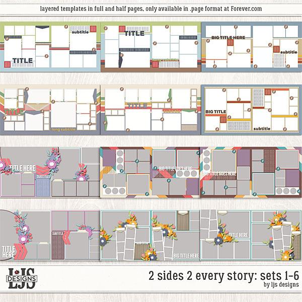 2 Sides 2 Every Story - Sets 1-6 Digital Art - Digital Scrapbooking Kits