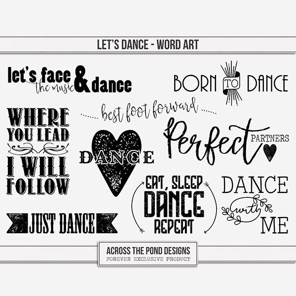 Let's Dance Word Art